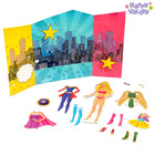 Магнитный набор с куклой, фоном и наклейками «СуперЛиза»