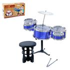 Барабанная установка «Большой музыкант» со стульчиком, МИКС