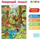 Говорящий плакат «Лесные животные», работает от батареек