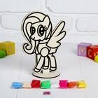 Аппликация шариковым пластилином «Пони с крыльями» 8 цветов по 4 г, подставка, стразы