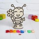 Аппликация шариковым пластилином «Пчелка» 8 цветов по 4 г, подставка, стразы