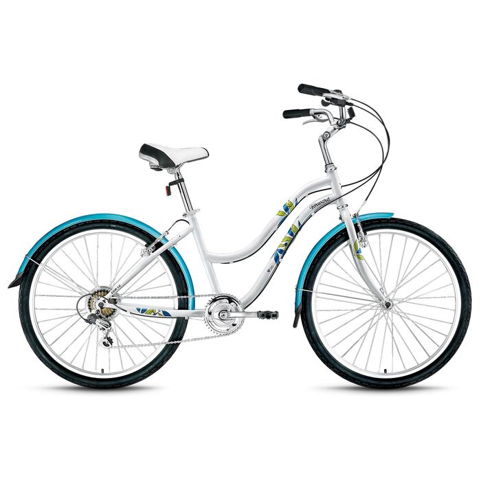 Велосипед 26 Forward EVIA 26 1.0, 2018, цвет белый, размер 16