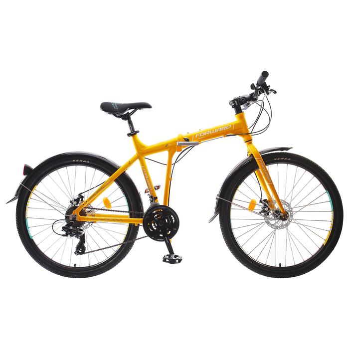 Велосипед 26 Forward Tracer 2.0 disc, 2018, цвет жёлтый, размер 17