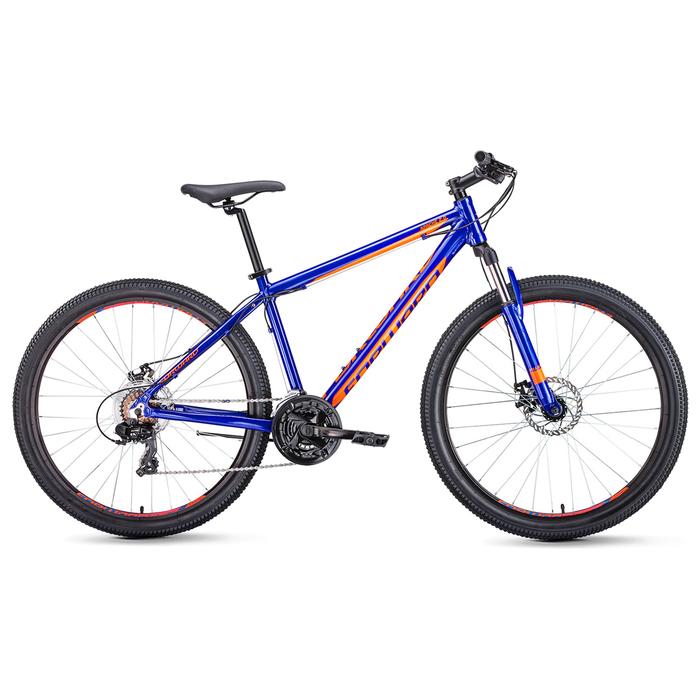 Велосипед 27,5 Forward Apache 2.0 disc, 2019, цвет синий/оранжевый, размер 17