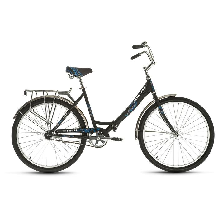 Велосипед 26 Forward SEVILLA 1.0, 2019, цвет чёрный матовый, размер 18,5