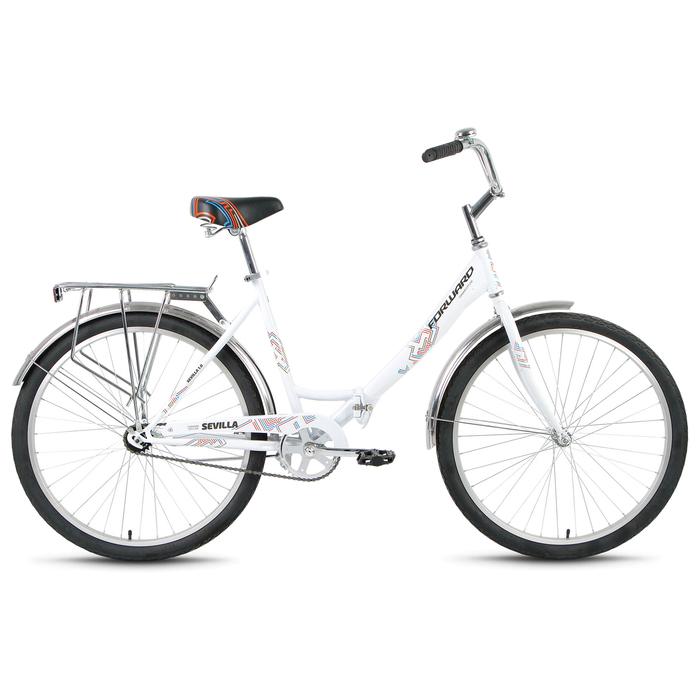 Велосипед 26 Forward SEVILLA 1.0, 2019, цвет белый, размер 18,5