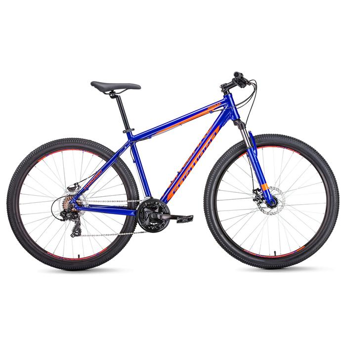 Велосипед 29 Forward Apache 2.0 disc, 2019, цвет синий/оранжевый, размер 17