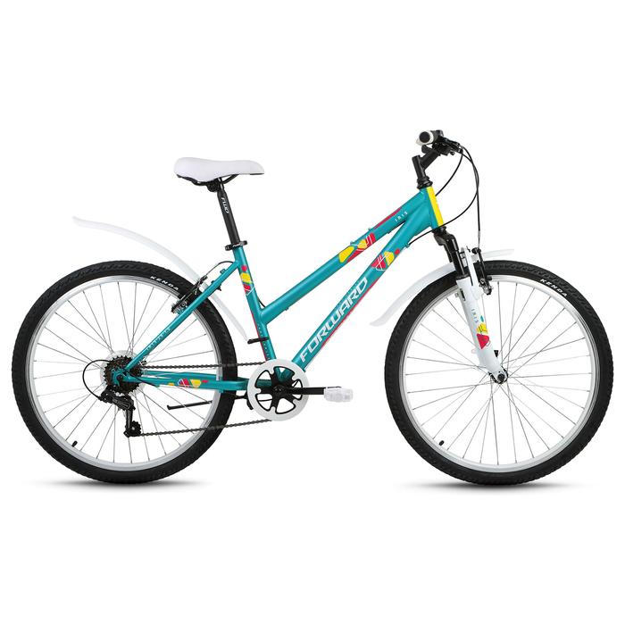 Велосипед 26 Forward Iris 26 1.0, 2018, цвет зелёный матовый, размер 17
