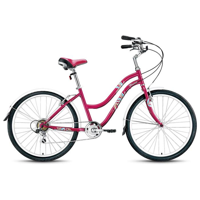 Велосипед 26 Forward EVIA 26 1.0, 2018, цвет бордовый/матовый, размер 16