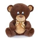 Мягкая музыкальная игрушка «Мишка с бантиком», коричневый, 20 см