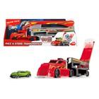 """Игрушка """"Автовоз"""", 4 уровня, грузовик и одна машинка, выезд через кабину, цвет красный, 44,5 см   41"""