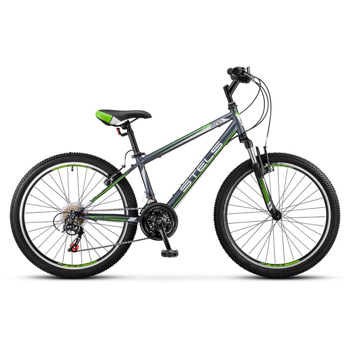 Велосипед 24 Stels Navigator-400 V, V040, цвет серый/зелёный, размер 12