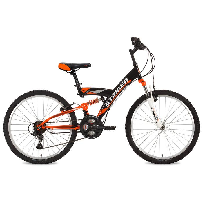 Велосипед 24 Stinger Banzai, 2018, цвет чёрный, размер 16,5