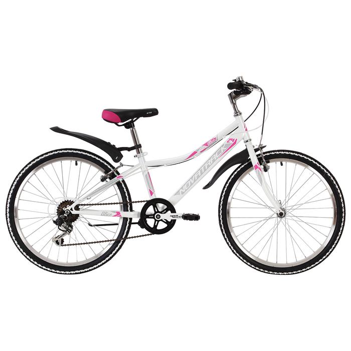Велосипед 24 Novatrack Alice, 2019, 6ск., цвет белый, размер 10