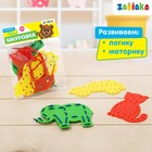 """ZABIAKA Шнуровка детская """"Животные и фрукты"""", 3 формы, 2 шнурка"""