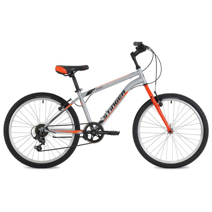 Велосипед 24 Stinger Defender, 2018, цвет серый, размер 14