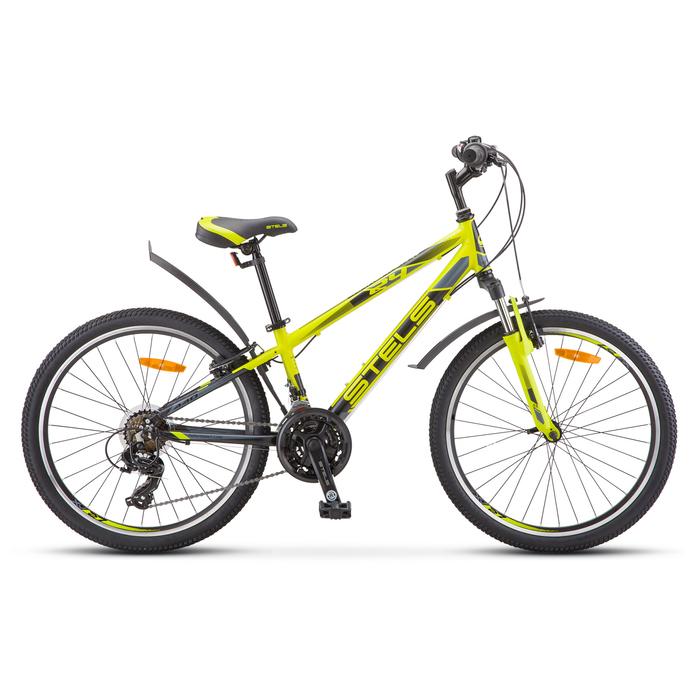 Велосипед 24 Stels Navigator-440, V030, цвет лайм, размер 13