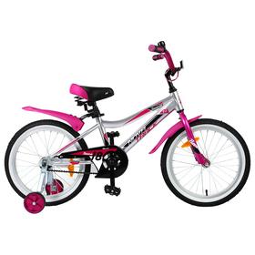 """Велосипед 18"""" Novatrack Novara, 2019, цвет серебристый"""