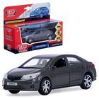 """Машина металлическая """"Toyota corolla"""" 12 см, открыв дв, багаж, инерц, серый COROLLA-GY"""
