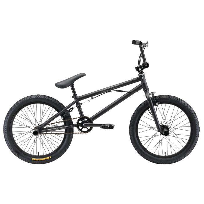Велосипед 20 Stark Madness BMX 1, 2019, цвет чёрный/матовый серый
