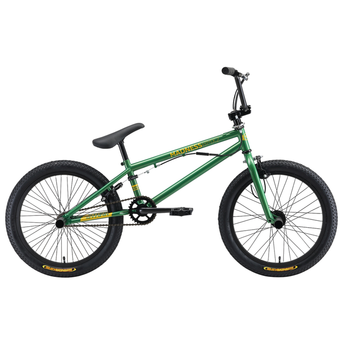 Велосипед 20 Stark Madness BMX 2, 2019, цвет зеленый/желтый