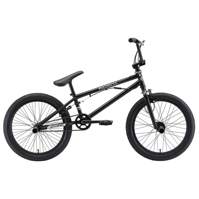Велосипед 20 Stark Madness BMX 1, 2019, цвет чёрный/гланцевый серый