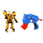 """Игровой набор """"Трансформер"""", с пистолетом, стреляет мягкими пулями, МИКС в пакете"""