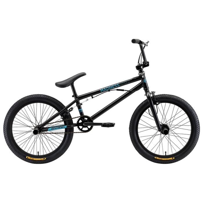 Велосипед 20 Stark Madness BMX 2, 2019, цвет чёрный/голубой