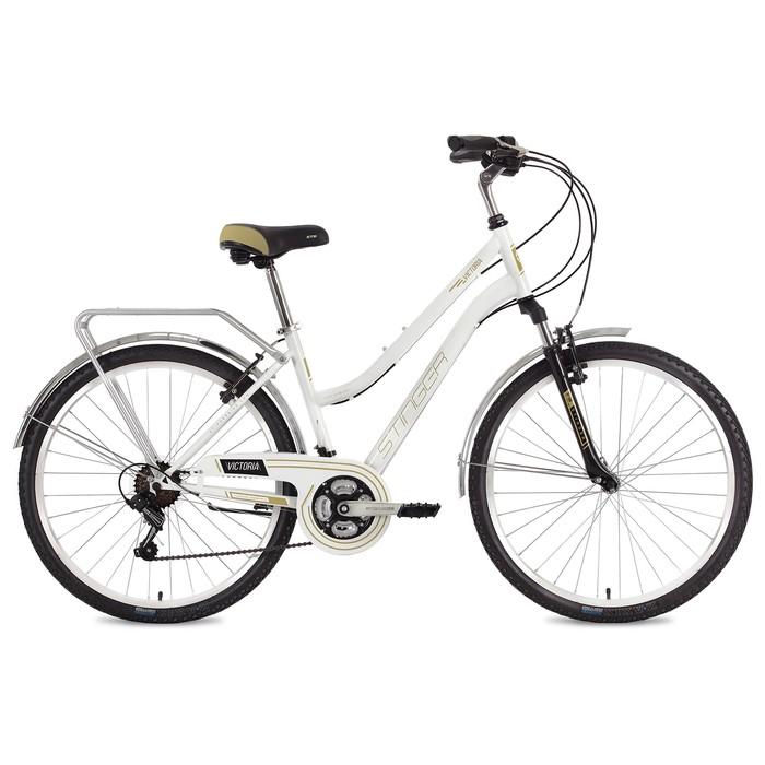Велосипед 26 Stinger Victoria, 2018, цвет белый, размер 15