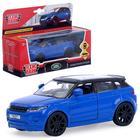 """Машина металлическая """"Land rover range evoque"""" синяя  12,5см,открыв. двери,инерц  EVOQUE-BU   420164"""