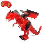 """Динозавр радиоуправляемый """"Дракон"""", работает от батареек, свет и звук в пакете"""