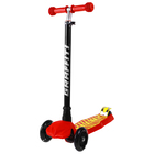 Самокат GRAFFITI, колёса световые PU d=120/80 мм, ABEC 7, цвет красный