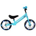 """Беговел GRAFFITI 10"""", колеса световые, цвет голубой"""