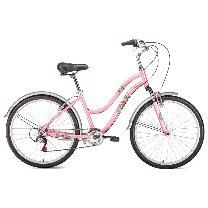 Велосипед 26 Forward Evia Air 1.0, 2019, цвет розовый матовый, размер 16