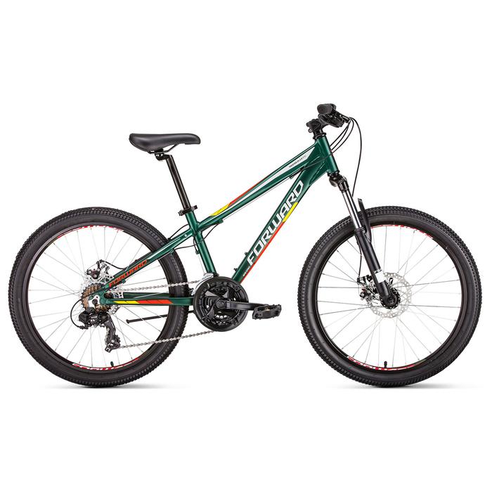 Велосипед 24 Forward Twister 2.0 disc, 2019, цвет зеленый мат., размер 13