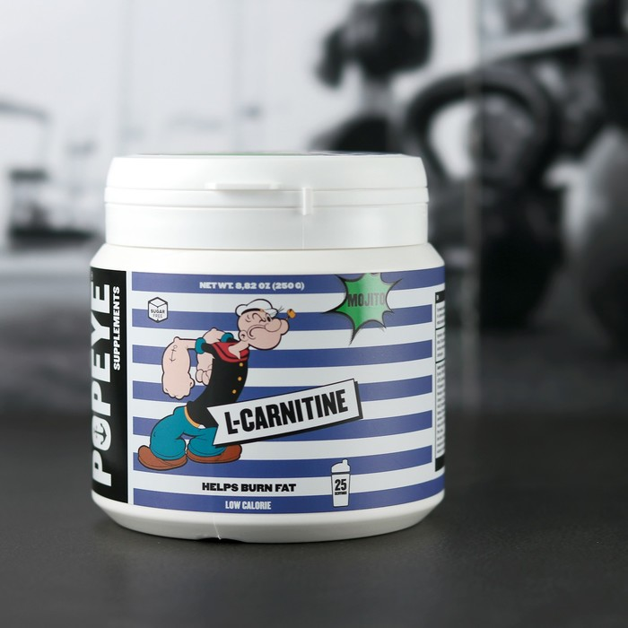 POPEYE Supplenments L-Carnitine, Jar 250 г Мохито( Mojito)