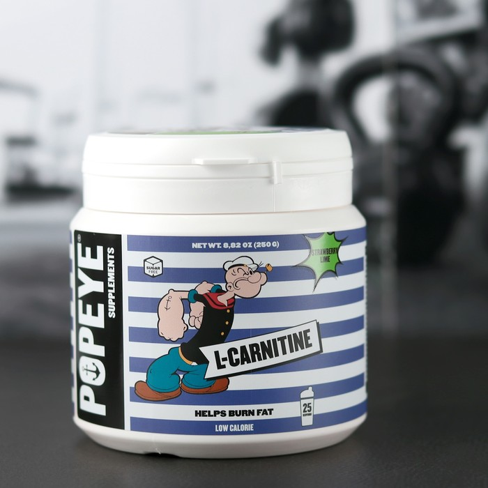 POPEYE Supplenments L-Carnitine, Jar 250 г Клубника-Лайм ( Strawberry-Lime)
