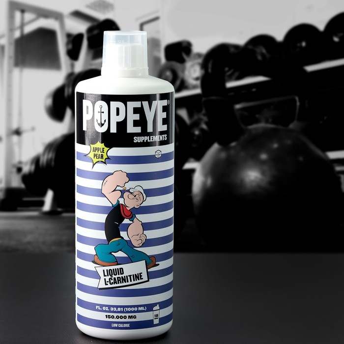 POPEYE Supplenments L-Carnitine Concentrate, Bottle 1L Яблоко-Груша(Apple-Pear)