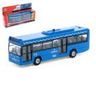 """Машина металлическая """"Автобус"""", 17 см, инерция, свет и звук"""