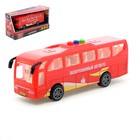 Автобус инерционный, световые и звуковые эффекты, 17 см
