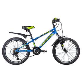 """Велосипед 20"""" Novatrack EXTREME, 2019, 6 ск., цвет синий"""
