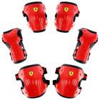 Защита роликовая FERRARI, р. L, цвет красный