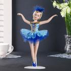 """Кукла керамика коллекционная """"Балерина в голубом"""" 23 см"""