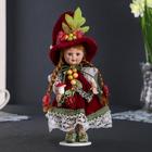 "Кукла керамика коллекционная ""Флора веснушка"" 24 см"