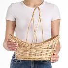 Корзина «Ажурная весна», дно: 26×21 верх:35×26, H=11/18/35 см, ручное плетение, ива