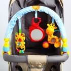 Дуга игровая мягкая на коляску/кроватку «Веселый зоопарк»