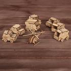Набор игрушек из дерева «Транспорт»: 7 машинок и вертолёт