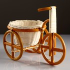 Кашпо «Велосипед», 29×15×19 см, кашпо 20×12 см, ротанг