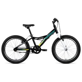 """Велосипед 20"""" Forward Comanche 1.0, 2019, цвет черный/зеленый, размер 10,5"""""""