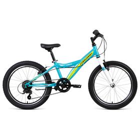 """Велосипед 20"""" Forward Dakota 20 1.0, 2019, цвет зелёный/желтый, размер 10,5"""""""